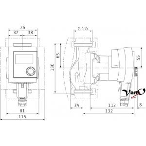 cirkuliacinis siurblys wilo stratos pico 25 1 4 130. Black Bedroom Furniture Sets. Home Design Ideas